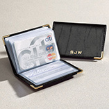 Apparel, Wallets & Jewelry - Personalized Leather Credit Card Holder