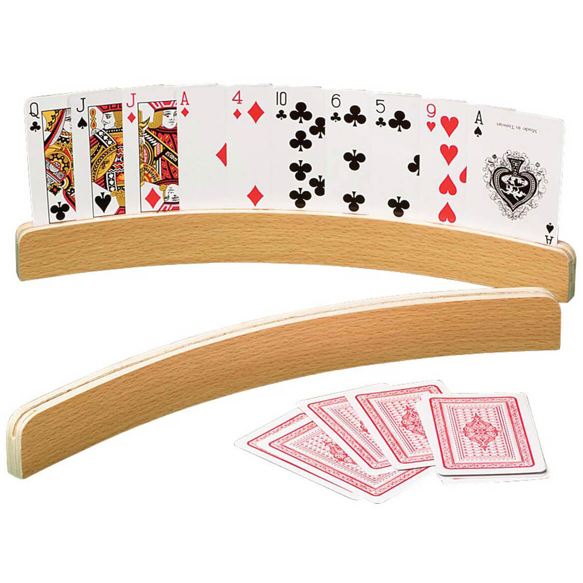 Curved Wooden Card Holders Set/2