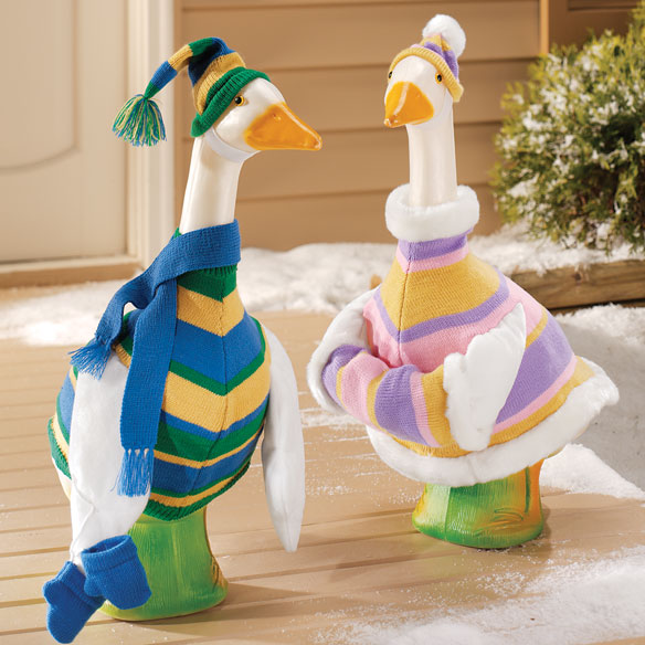 Lawn Goose Clothes Set