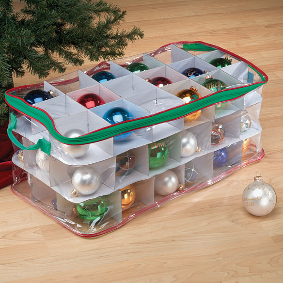 Clear Ornament Storage Chest