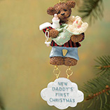 Milestones - Dad First Christmas Ornament