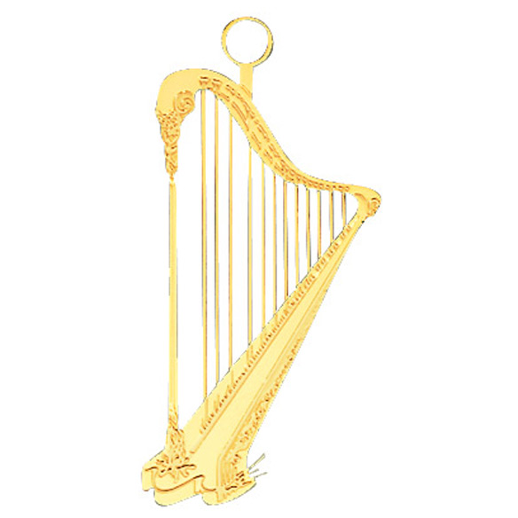 Musical Instrument Ornament Harp