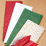 Wrapping & Gift Giving - Gold Stars Christmas Tissue Paper
