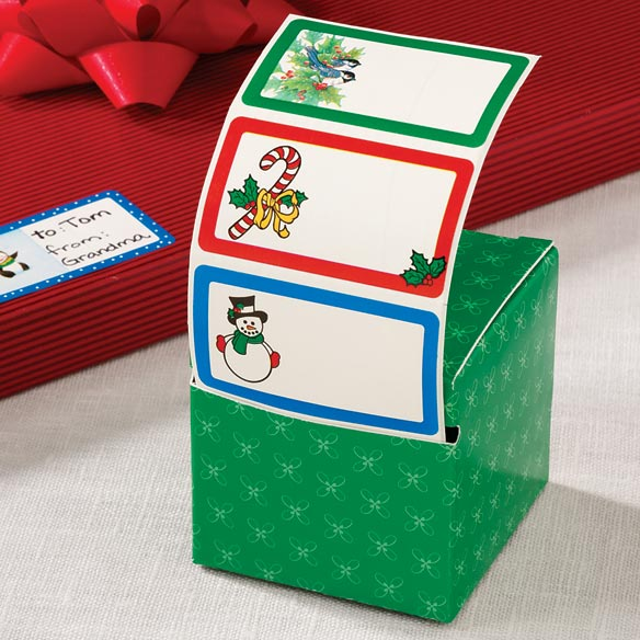 Boxed Christmas Gift Labels