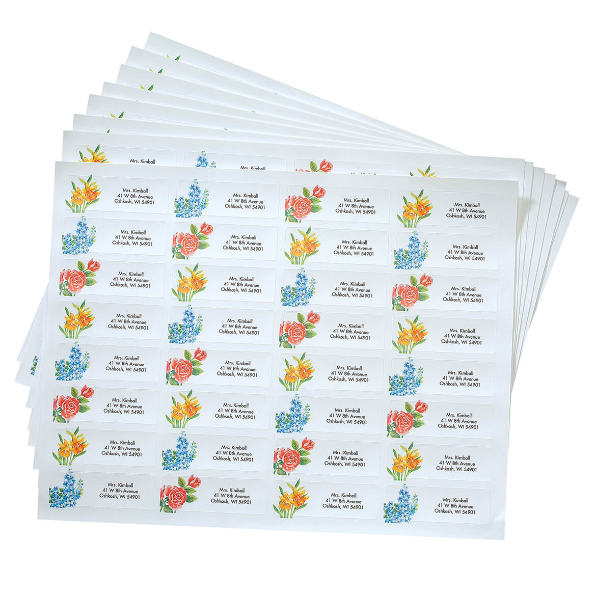 Pers Floral Medley Labels 250