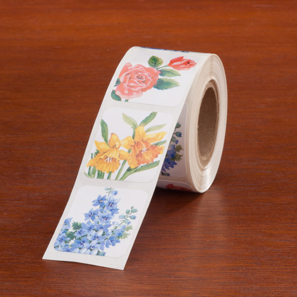 Floral Medley Seals - Roll Of 250