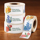 Home Office - Floral Address Labels & Seals - 250