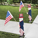 Uncle Sam Patriotic Lawn Decorations