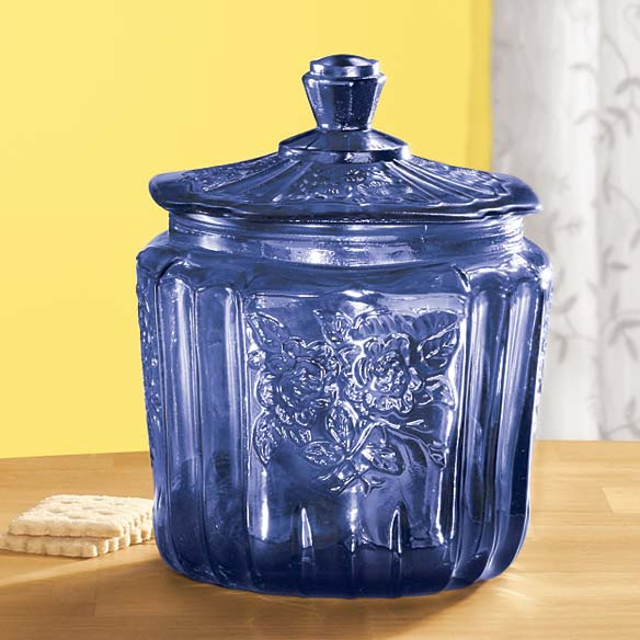 Cobalt Blue Biscuit Jar
