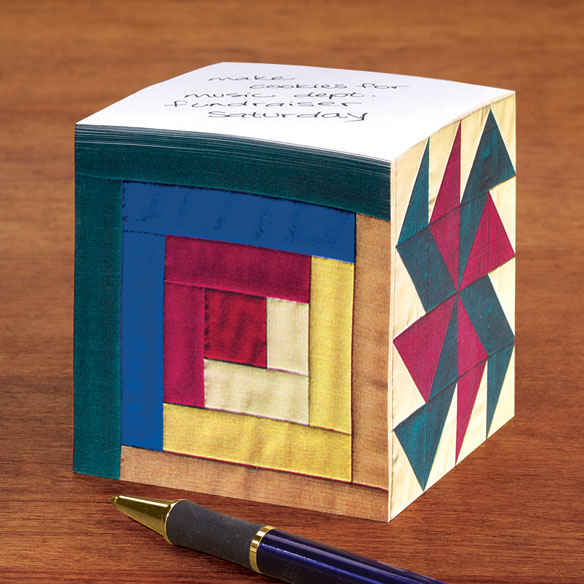 Quilted Memo Cube