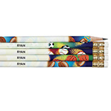 Pencils, Office & Stationery - Personalized Sports Pencils - Set of 12