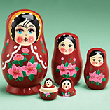 Collectibles & Display - Traditional Russian Nesting Dolls - Set Of 5