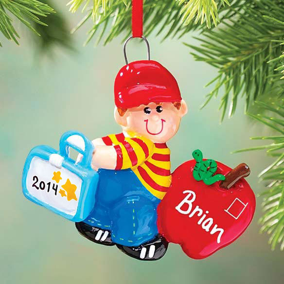 Personalized First Day Of School Ornament - Boy