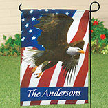 4th of July - Personalized Patriotic Eagle Garden Flag