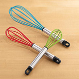 Food Prep - Silicone Whisk Set Of 3