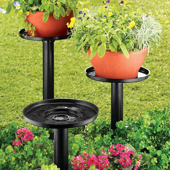 Tiered Outdoor Plant Stands - Set of 3