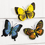 Outdoor Decor - Butterfly Plaques - Set Of 3