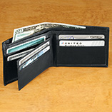 Apparel, Wallets & Jewelry - Personalized Leather Wallet