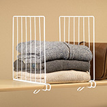 Storage & Organization - White Wire Closet Shelf Dividers - Set Of 4