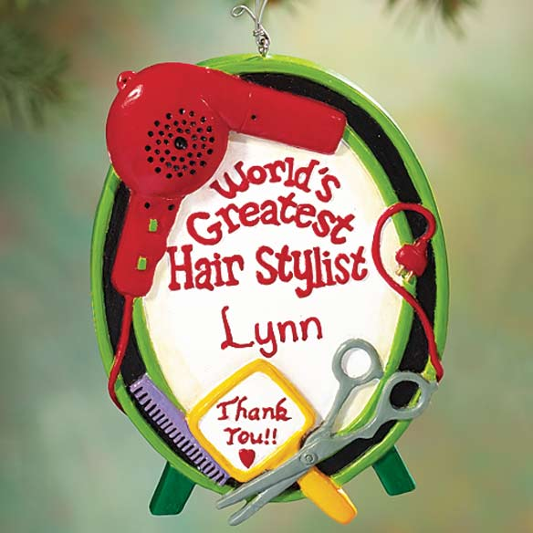 Personalized Hair Stylist Ornament