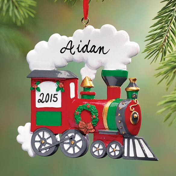Personalized Train Ornament - View 1