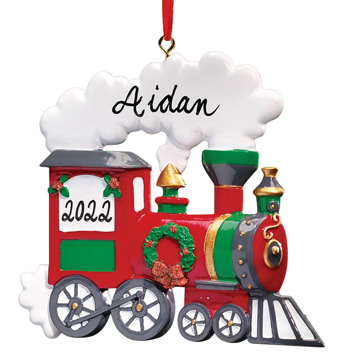 personalized train ornament train ornaments miles kimball