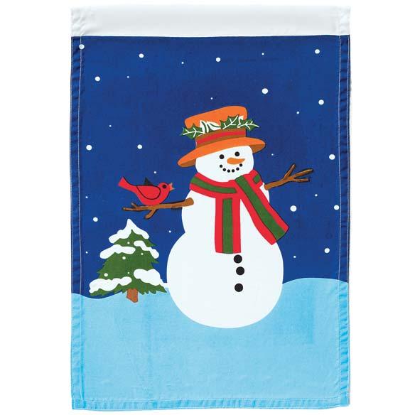Snowman Garden Flag