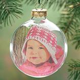 Photo Gifts - Glass Photo Ball Ornament