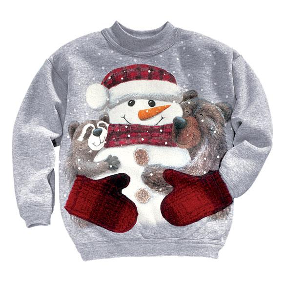 Snowman & Friends Smitten Childrens Sweatshirt