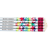 Children's Gifts & Leisure - Round Holographic Star Pencils - Set of 12