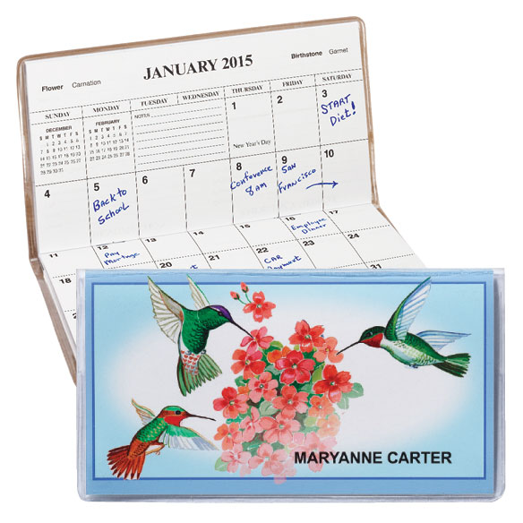 Personalized 2 Year Pocket Planner - Hummingbird