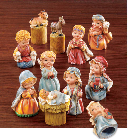 Thimble Nativity Set
