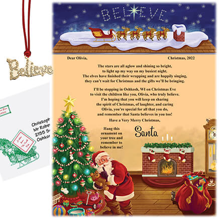 personalized letter from santa to child 315168