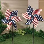 Patriotic Lawn Pinwheel Set of 2