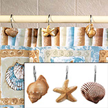 Shell SHower Curtain Hooks