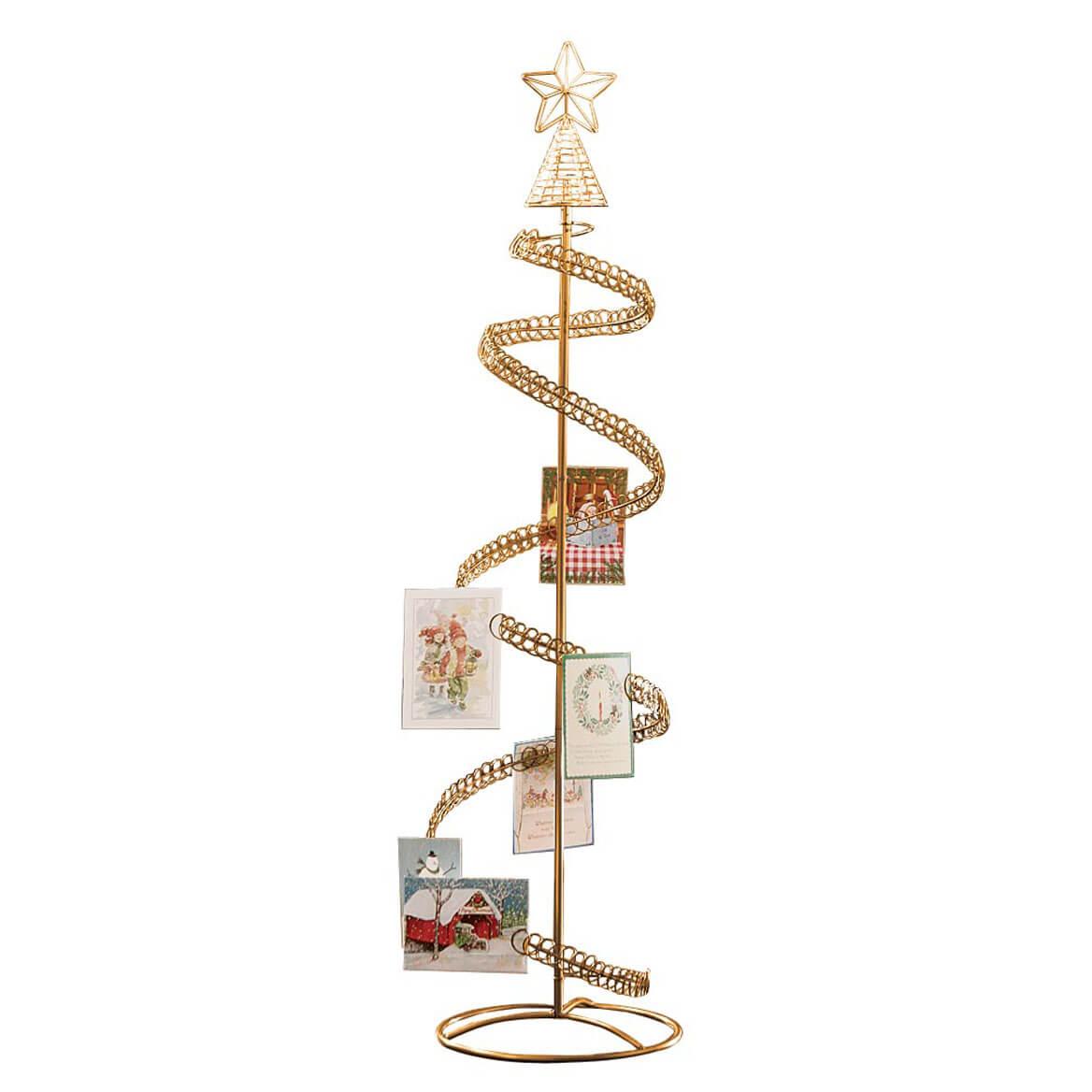 spiral christmas tree card holder