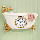 Bathroom & Shower - Claw Foot Style Bathtub Clock