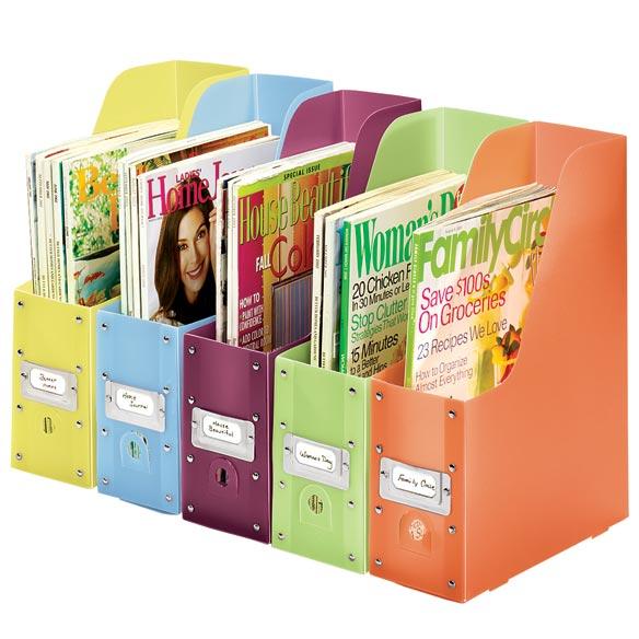 Plastic Magazine Files - Set Of 5