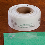 Address Labels & Seals - Clear Personalized Snowflake Labels - Set of 250