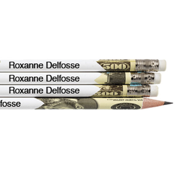 Round Money Pencils Set of 12 Personalized