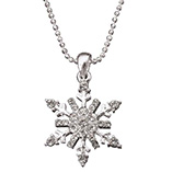 View All Jewelry & Keychains - Snowflake Pendant Necklace
