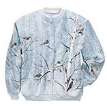 Everyday Sweatshirts - Winter Birds In Birch Cardigan