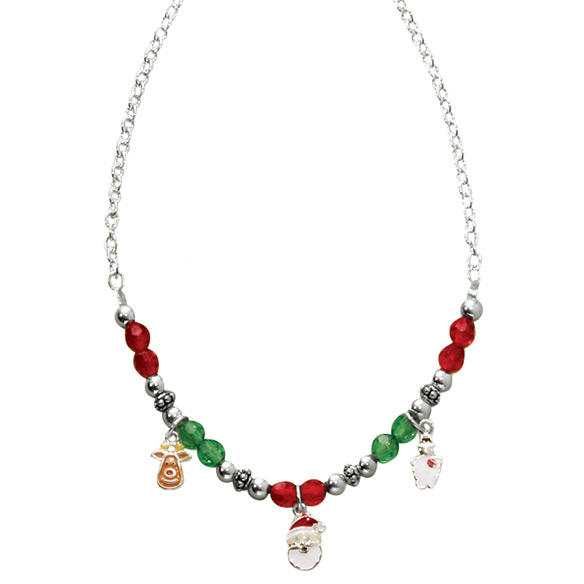 Child's Christmas Charm Necklace