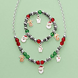 Apparel, Totes & Accessories - Child's Christmas Charm Bracelet And Necklace