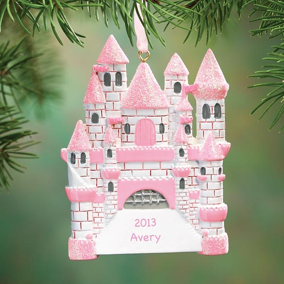 Personalized Princess Castle Ornament
