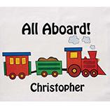 Stocking Stuffers - Personalized Train Pillowcase