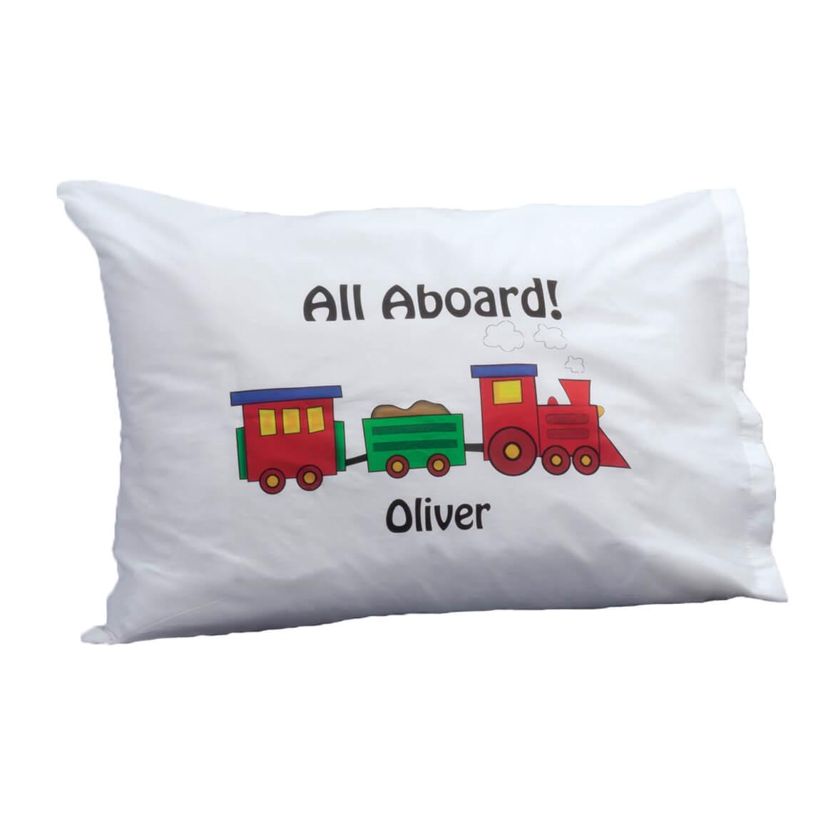 Personalized Train Pillowcase