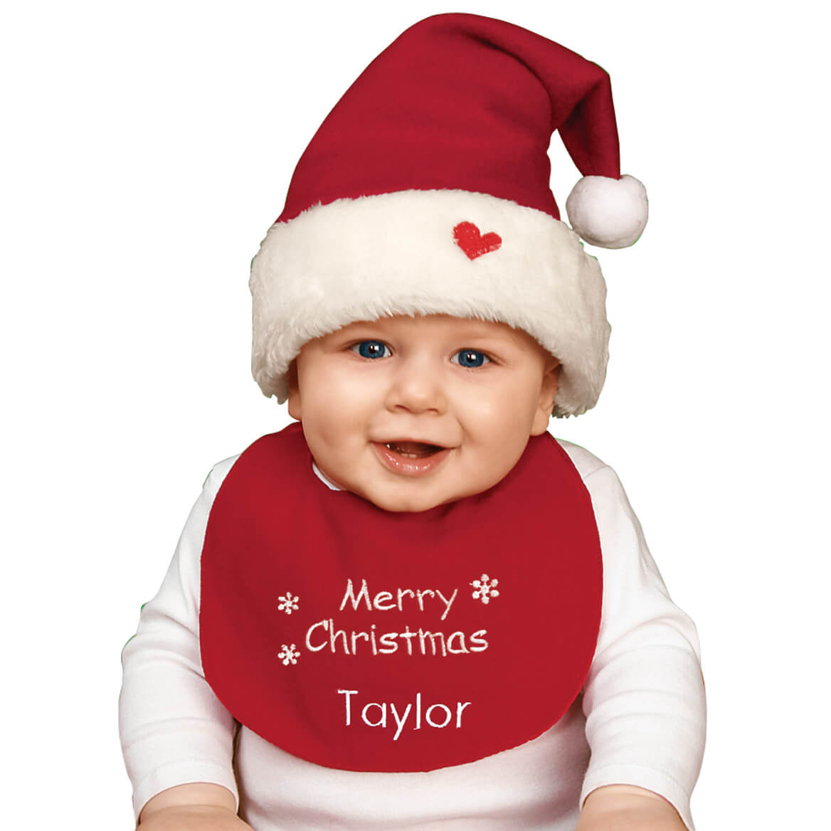 Personalized Baby Christmas Hat   Bib Set - Christmas - Miles Kimball 710011b77