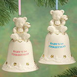 Milestones - Personalized Baby's First Christmas Bell Ornament
