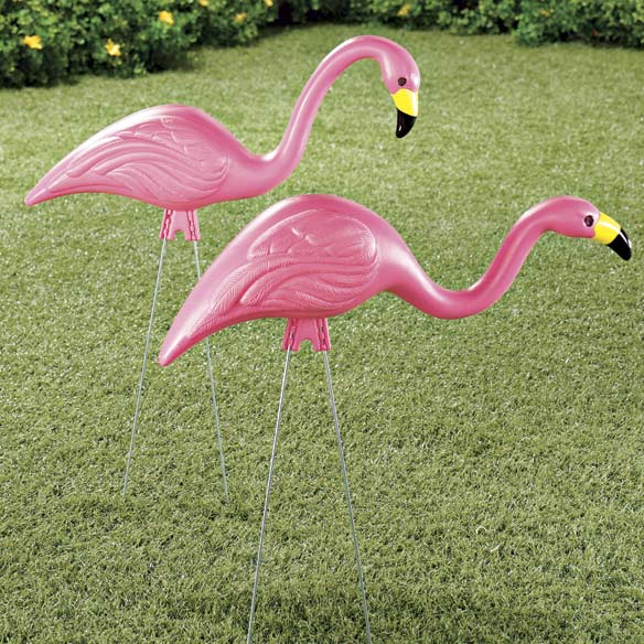 Pink Lawn Flamingos - Set of 2
